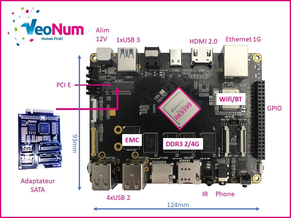 VeoNum se lance sur le Chipset Rockchip RK3399